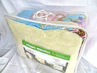 Одеяло мех Евро размера из овечьей шерсти Лери Макс большие цветы