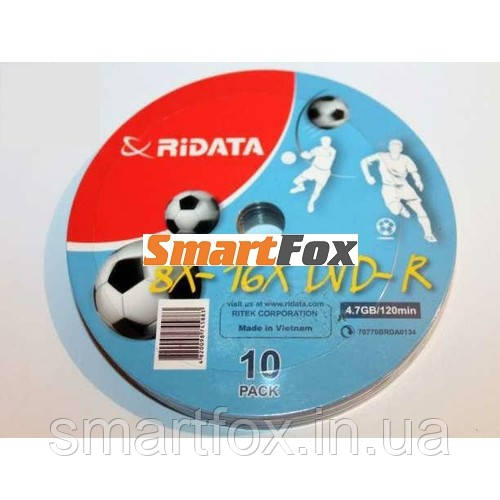 RIDATA DVD-R 4,7Gb 8-16x Bulk 10 pcs (football)