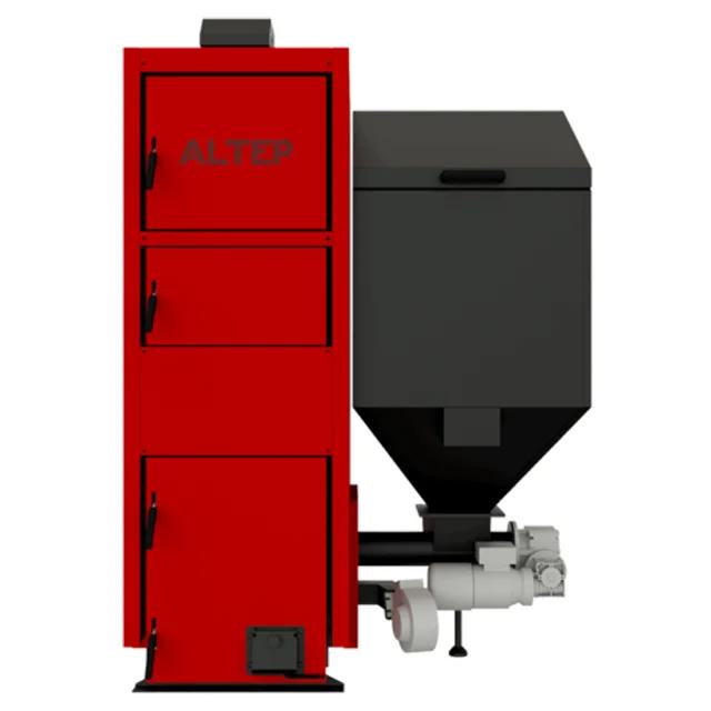 Котел з бункером на пеллетах з автоматичною подачею палива Альтеп Duo Pellet N потужністю 21 кВт