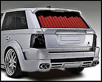 Автоэквалайзер на заднее стекла автомобиля—красный, 90*25 см
