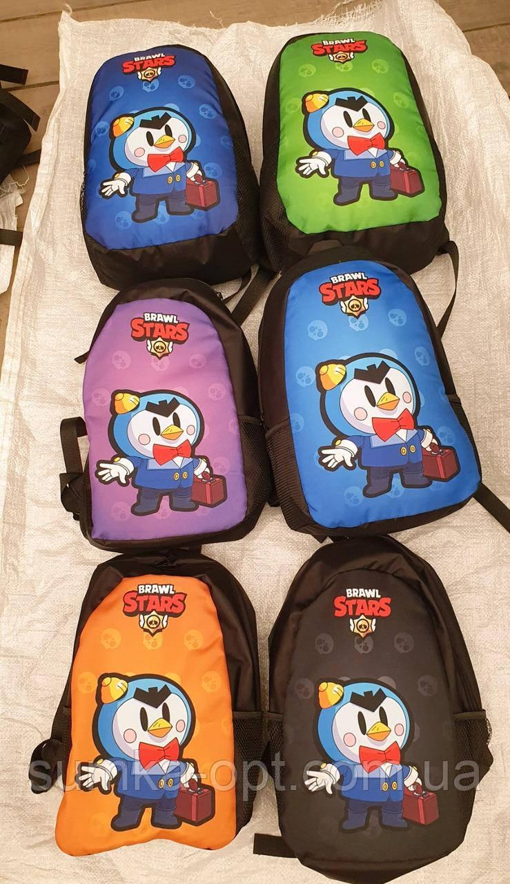 Молодежные рюкзаки с супергероями Brawl Stars (6цветов)27х38см