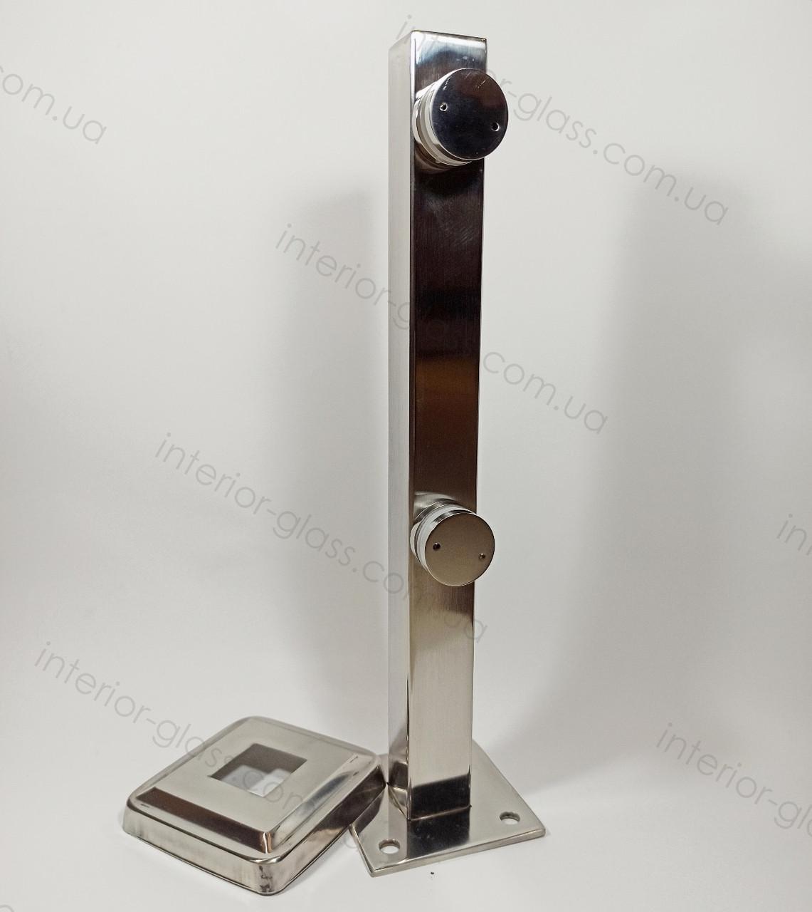 Стойка для стекла, стеклянных ограждений, перил ST-40-01 40*40 мм, h=400 мм