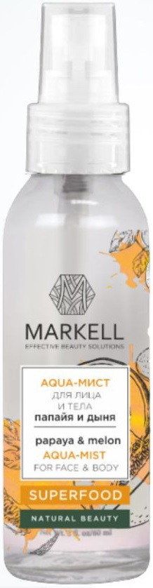Aqua-мист для лица и тела папайя и дыня Markell SuperFood 100 мл (4810304018566)