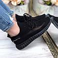 Кроссовки женские черные летние текстиль изи b-322, фото 8