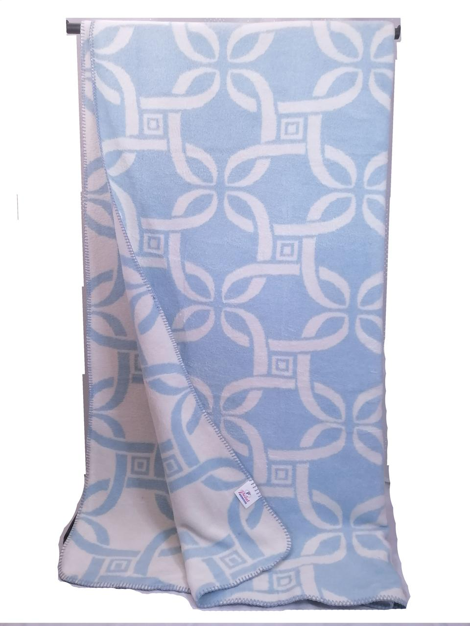 Хлопковый плед одеяло Турция 200*220 см голубой Polat