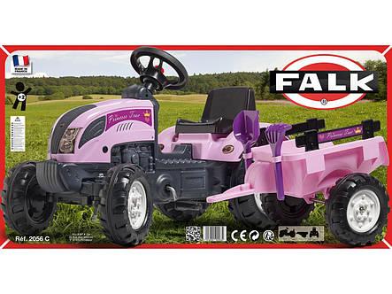 Трактор педальный для девочки Princess Falk 2056C, фото 2