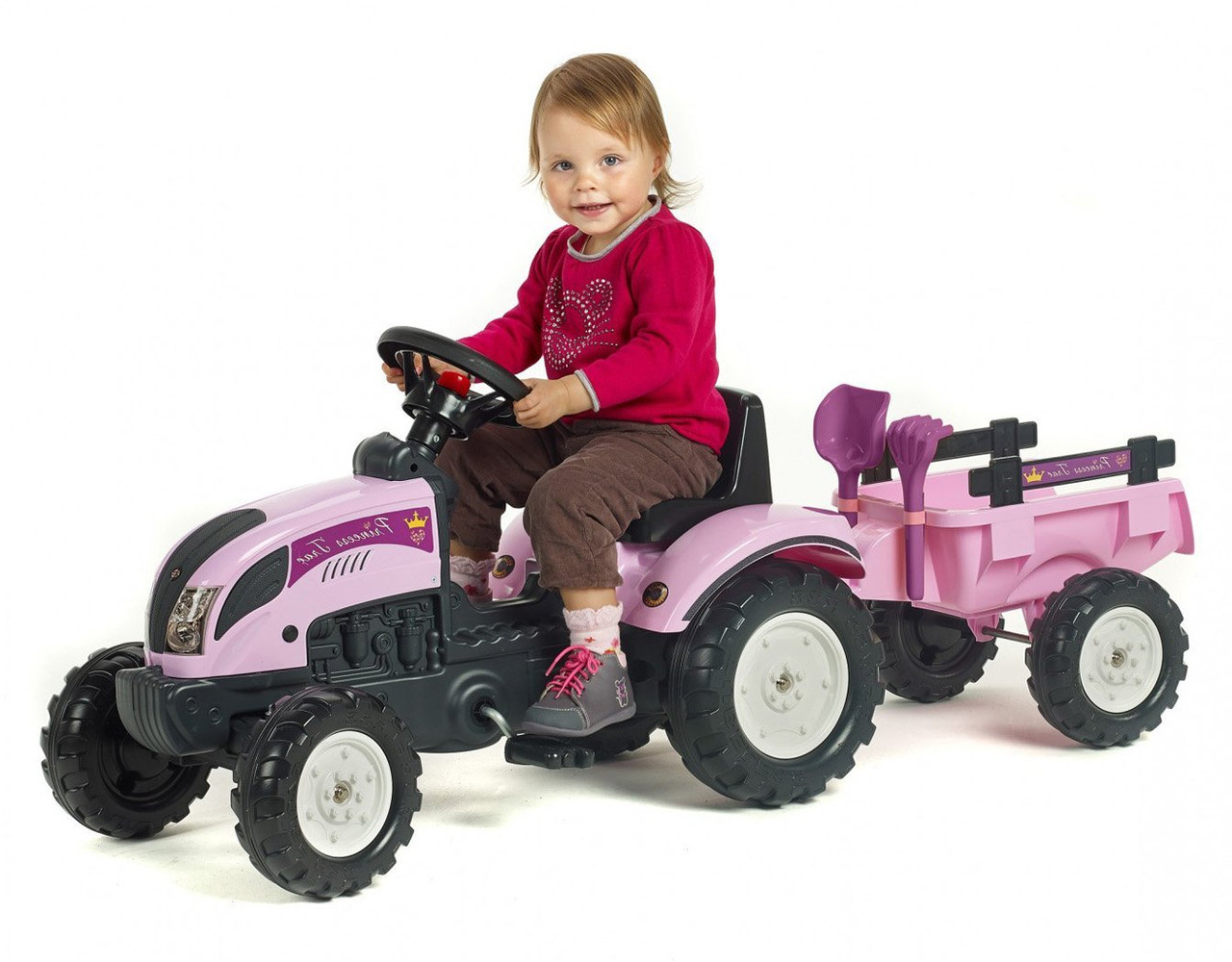 Трактор педальный для девочки Princess Falk 2056C