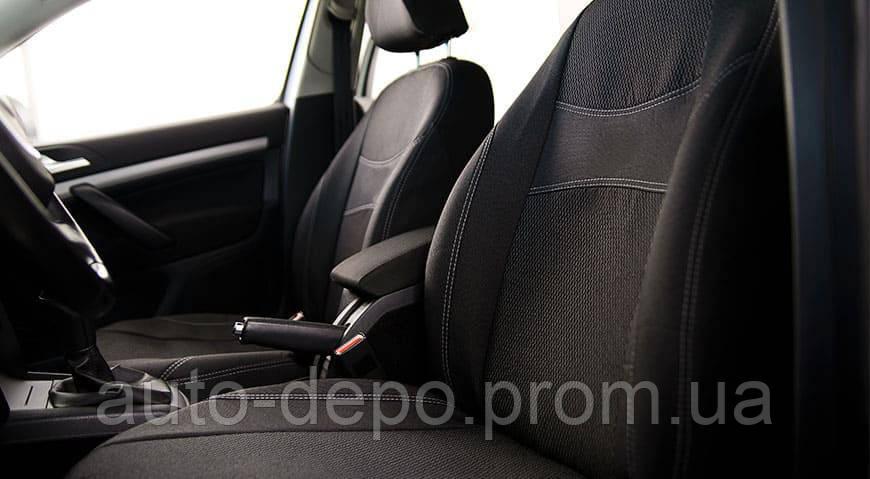 Чехлы для Рено Сандеро Renault Sandero 2007-2012 (цельная з/сп) Nika
