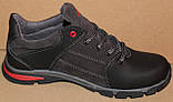 Кроссовки кожаные подростковые на шнурках от производителя модель ИВ109, фото 3