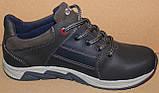 Кроссовки кожаные подростковые на шнурках от производителя модель ИВ122, фото 3