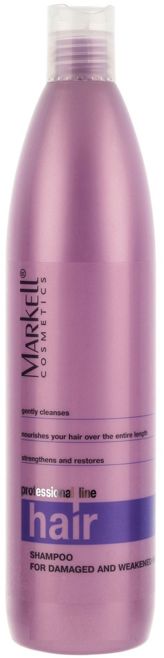 """Шампунь Для пошкодженого і ослабленого волосся"""" Markell ProfHairLine 500 мл (4810304007669)"""