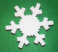 Сніжинка -3 з пінопласту 13,5 см 1496-3