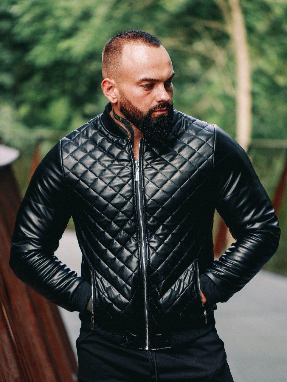 Мужская куртка. Кожаный бомбер.