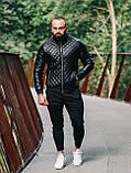 Мужская куртка. Кожаный бомбер., фото 2