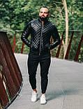 Мужская куртка. Кожаный бомбер., фото 3