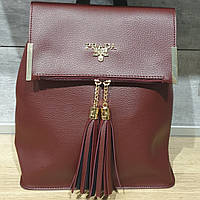 Рюкзак сумка женский бордовый