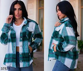 Женская бутылочная куртка рубашечного кроя из шерсти