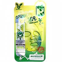 Тканевая маска для лица с центеллой Face Care Centella Asiatica Deep Power Ringer Mask Packс Elizavecca, Корея