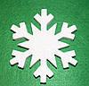 Сніжинка -4 з пінопласту 13,5 см 1496-4