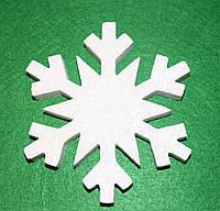 Сніжинка -4 з пінопласту 13,5 см 1496-4, фото 1