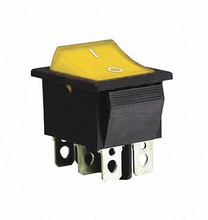 Переключатель KCD2-202 Y/B 1 клавиша желтая TechnoSystems TNSy5500781, фото 2