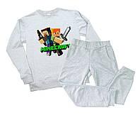 Костюм свитшот детский и штаны - Minecraft Майнкрафт