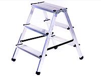 Драбина 2х3 HIGHER , драбина на дві ступеньки , пітставка , драбина двохстороння , драбина стілець , Лесница