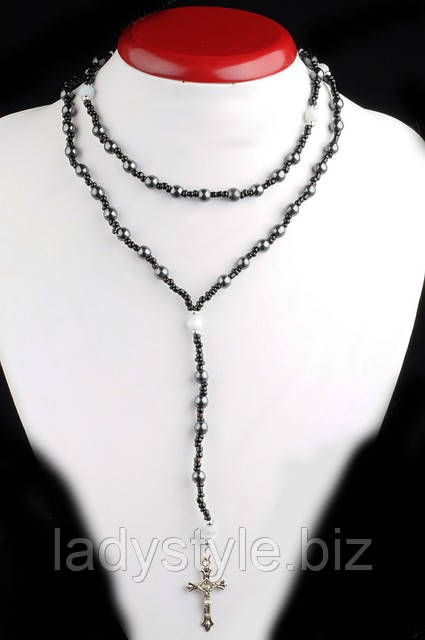 a5caf788f7a0 Украшение на шею для женщин и мужчин из гематита от Студии  www.LadyStyle.Biz, цена 73 грн., купить в Киеве — Prom.ua (ID#14747833)