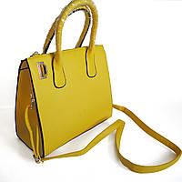 Сумка ярко-желтая стильная
