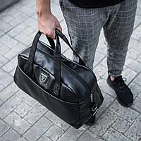 Мужская кожаная сумка  Philipp Plein Wolf Logo