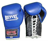 Рукавиці боксерські Reyvel Про, 12 oz, сині, фото 1