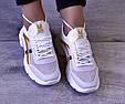 Кроссовки женские летние белые сетка, фото 8