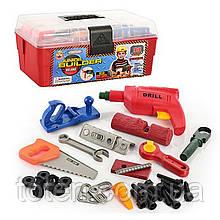 Набор инструментов 33 детали с шуруповертом в чемодане игровой для детей 2059