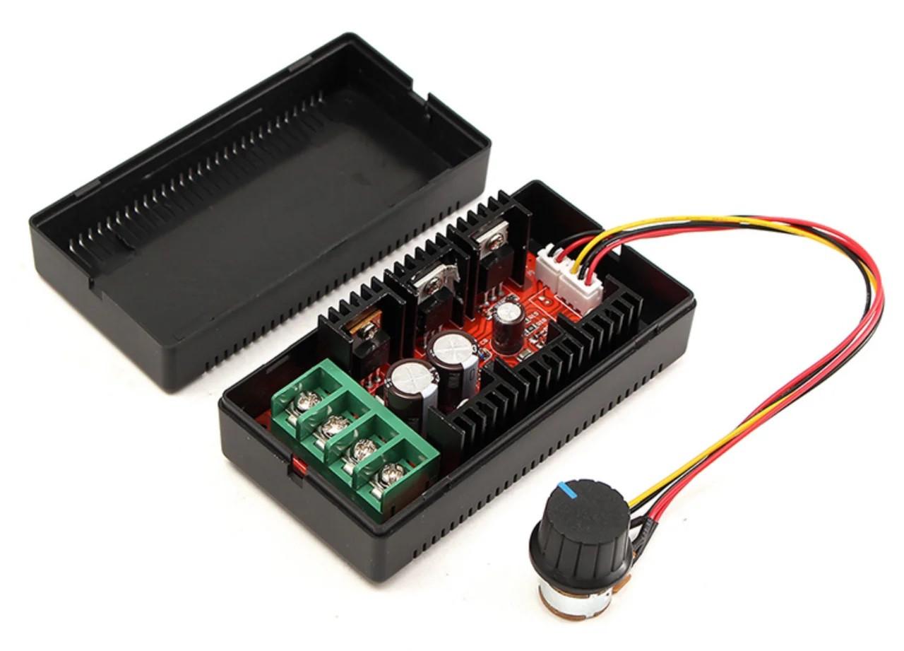 ШИМ контроллер. Управление скоростью двигателя постоянного тока с регулировкой 10-50В 40А 2000Вт