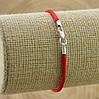 Серебряный оберег Красная нить длина 21 см ширина 2 мм вес 0.7 г, фото 3