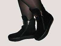 Модные женские ботинки из замши