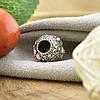 Серебряный шарм 10х9 мм вставка белые фианиты вес серебра 2.62 г, фото 2