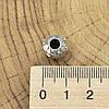 Серебряный шарм 10х9 мм вставка белые фианиты вес серебра 2.62 г, фото 3