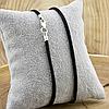Шнурок шелковый цвет черный длина 30 см ширина 2 мм вес серебра 0.7 г, фото 2
