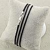 Шнурок шелковый цвет черный длина 30 см ширина 2 мм вес серебра 0.7 г, фото 4