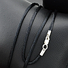 Шнурок шелковый цвет черный длина 30 см ширина 2 мм вес серебра 0.7 г, фото 5