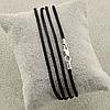 Шнурок шелковый цвет черный длина 30 см ширина 2 мм вес серебра 0.7 г, фото 7
