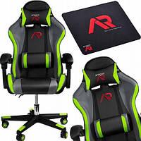 Компьютерное кресло для геймера JUMI ARAGON TRICOLOR GREEN
