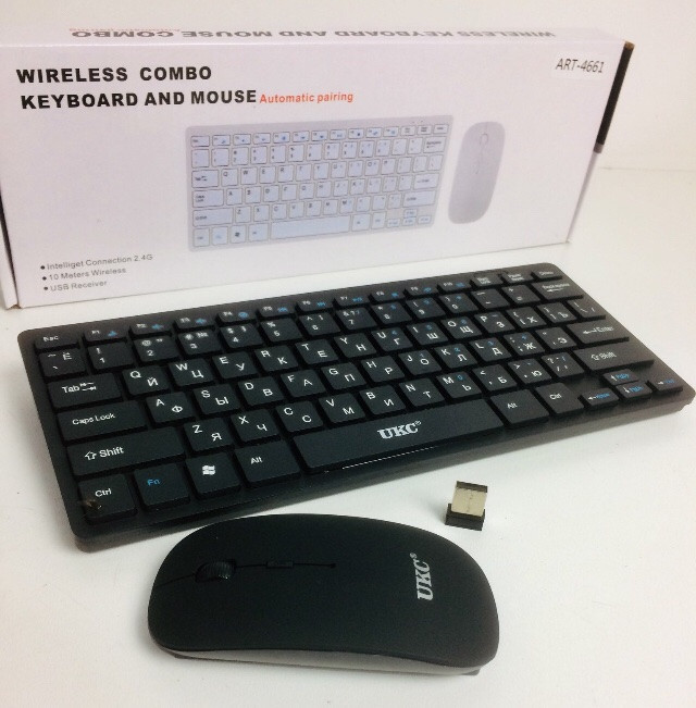 Клавіатура і мишка бездротова ART - 901/4661 Apple (30 шт/ящ)