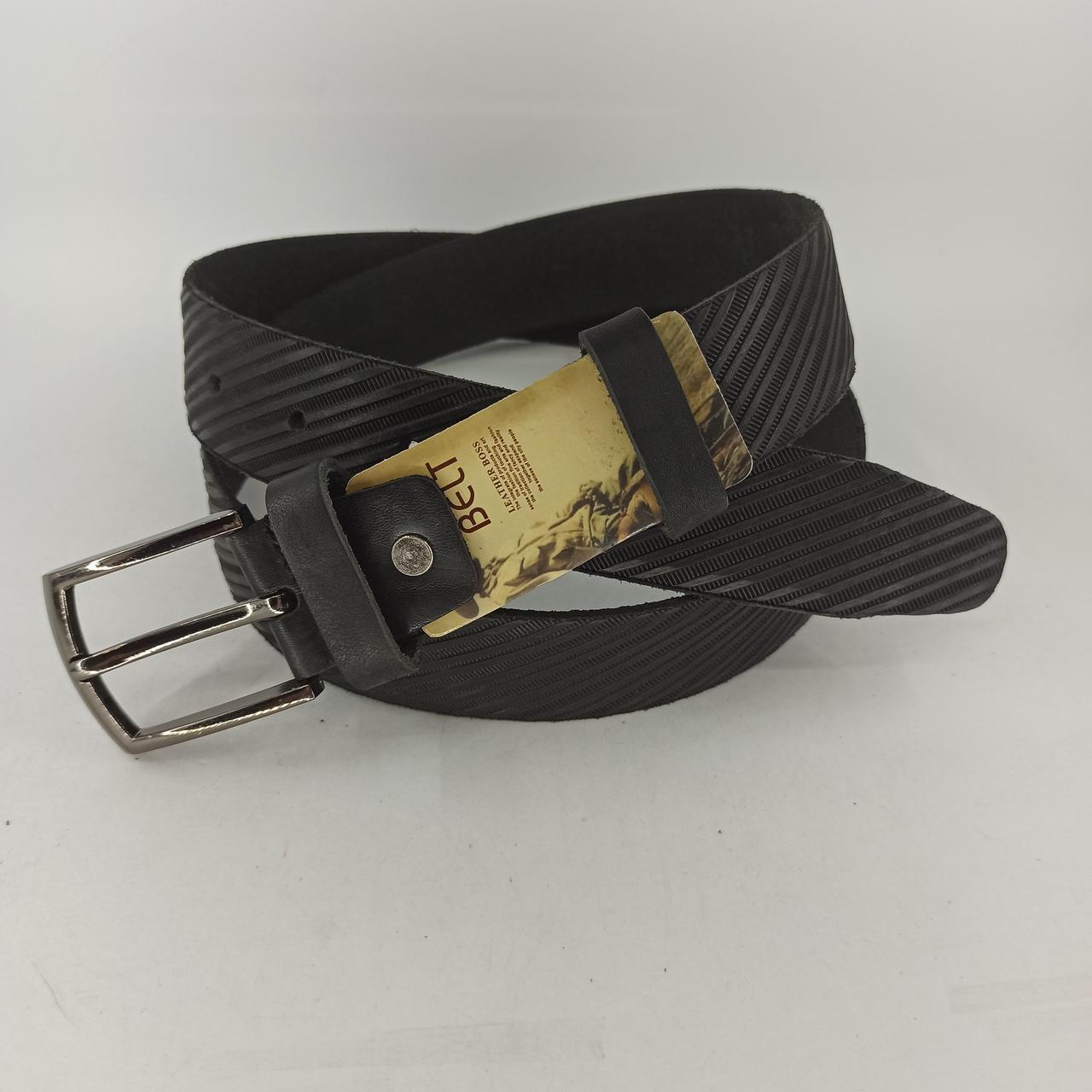 Мужской кожаный (PU) ремень с классической пряжкой PU029