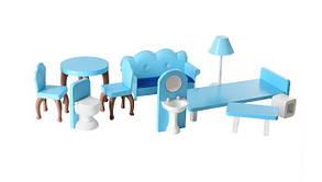 Домик для кукол Барби деревянный с мебелью 3 этажа MD 2412, фото 3