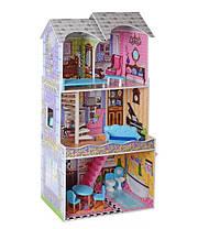 Домик для кукол Барби деревянный с мебелью 3 этажа MD 2412, фото 2