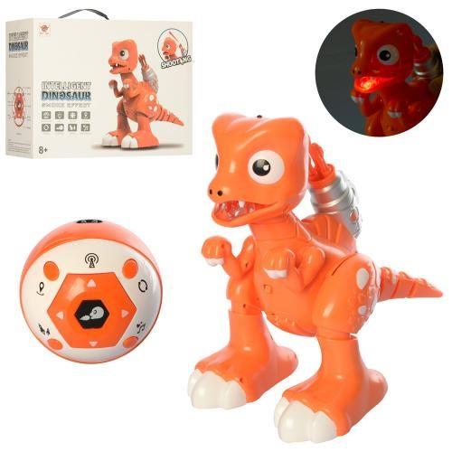 KMFK603A Динозавр   р/у,33см,муз,свет,ходитстреляет пулями,дым,на бат-ке, в кор-ке, 38,5-28-17см