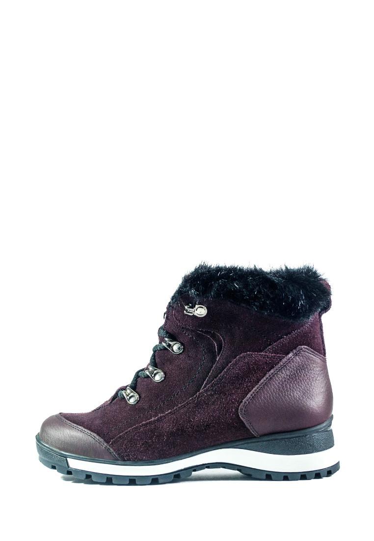 Ботинки зимние женские MIDA 24830-660Ш бордовые (36)