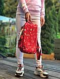 Модный женский рюкзак - сумка красный с рисунками канкен Fjallraven Kanken classic red 16 литров, фото 3